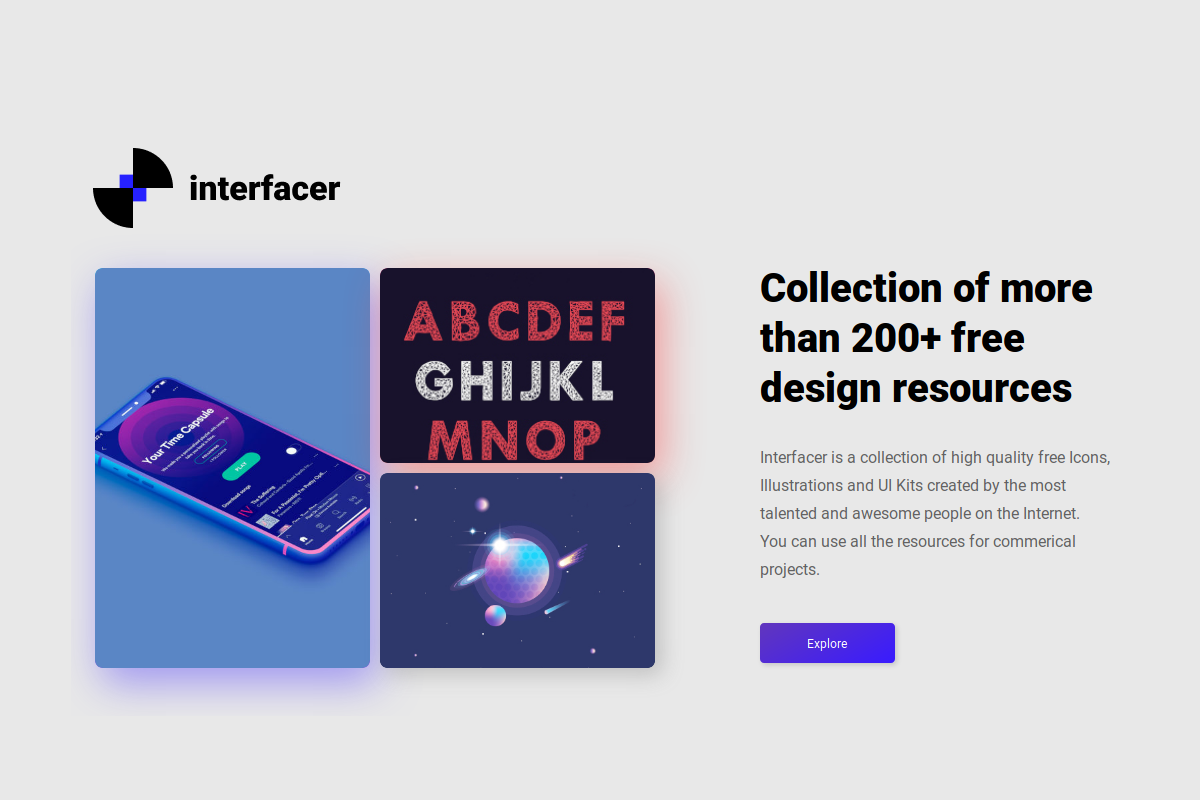Interfacer - 300+ free design resources